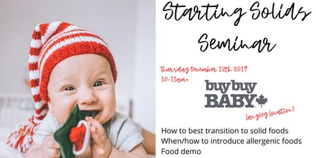 Starting Solids at BuyBuy Baby-Langley tickets