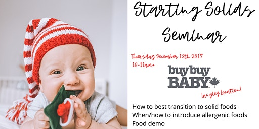 Starting Solids at BuyBuy Baby-Langley