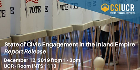 State of Civic Engagement in the Inland Empire Report Release tickets