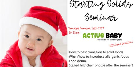 Starting Solids at Active Baby in Kitsilano, Vancouver tickets