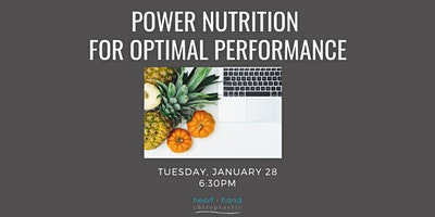 Power Nutrition for Optimal Performance
