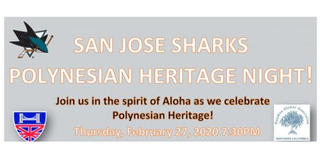 HCCNC - Polynesian Heritage Night with the San Jose Sharks tickets