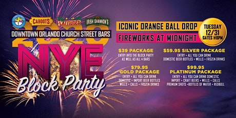 NYE 2020 Church Street Block Party | Fireworks & Iconic Orange Ball Drop tickets