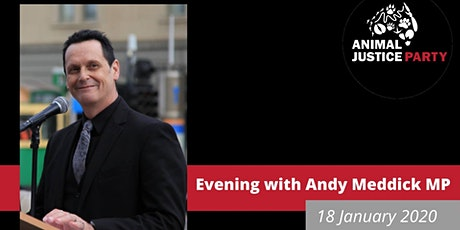 Evening with Andy Meddick - Animal Justice Party MP tickets