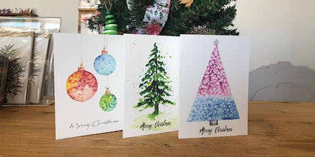 Christmas Watercolour Card Workshop by Funda tickets