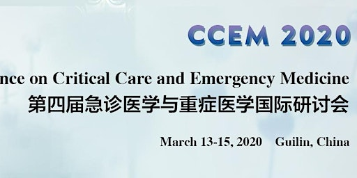 The 4th Int'l Conference on Critical Care and Emergency Medicine (CCEM 2020