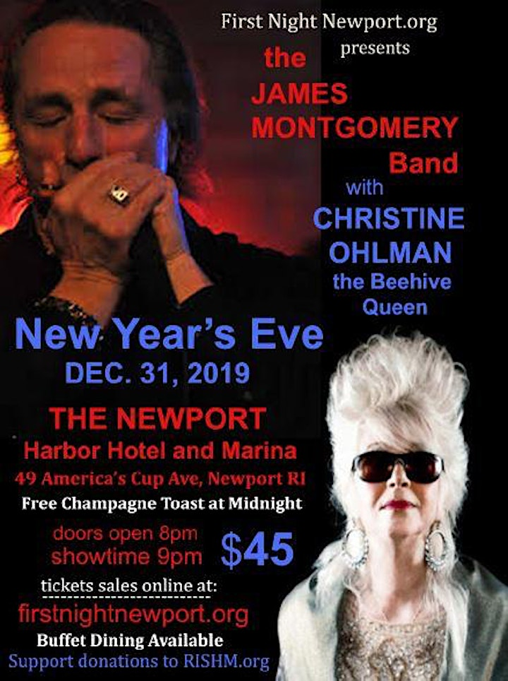 New Year's Eve with the James Montgomery Band and Christine Ohlman image