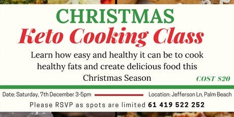Christmas Keto Cooking Class tickets