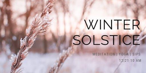 Winter Solstice - Yoga + Meditation + Sips