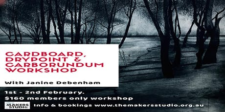 CARDBOARD DRYPOINT AND CARBORUNDUM tickets