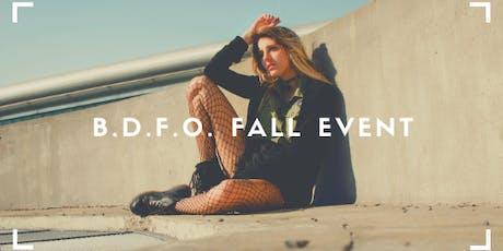 B.D.F.O. Fall Pop Up tickets