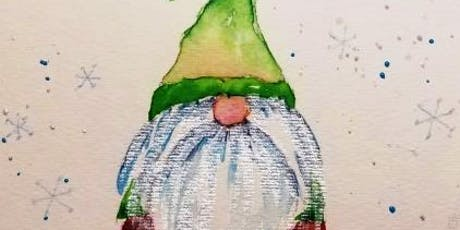 Wine and Watercolors with Chris Blevins - Gnome for the Holidays tickets
