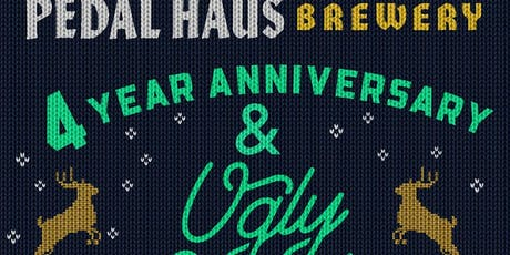 Pedal Haus Brewery 4 Year Anniversary & Ugly Sweater Party tickets