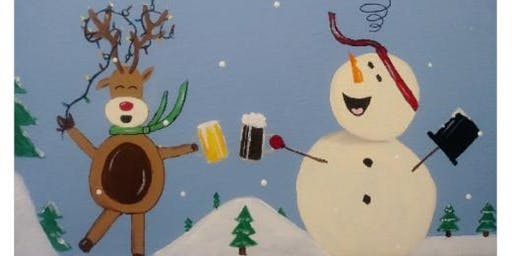 The Stout House holiday paint night