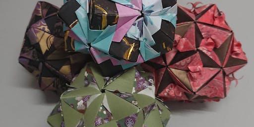 Origami globe workshop