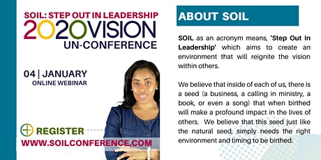 SOIL: Step Out In Leadership UnConference Webinar tickets