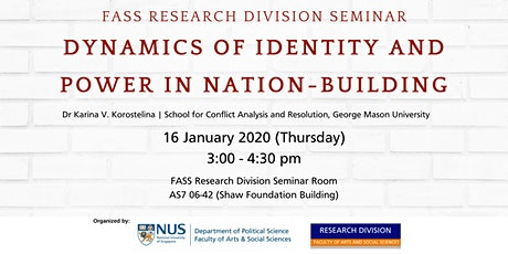 Seminar: Dynamics of Identity and Power in Nation-Building | 16 Jan 2020 tickets