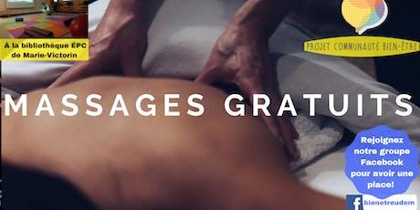 Massages gratuits tickets