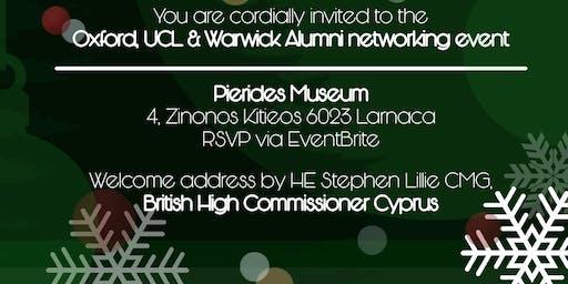 Oxford, UCL, Warwick Alumni Networking event