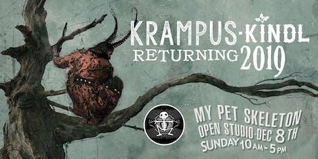 KrampusKindle! My Pet Skeleton Open Studio ~ Year 2! FREE TICKETS! tickets