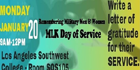 Letter writing campaign to active Military members tickets