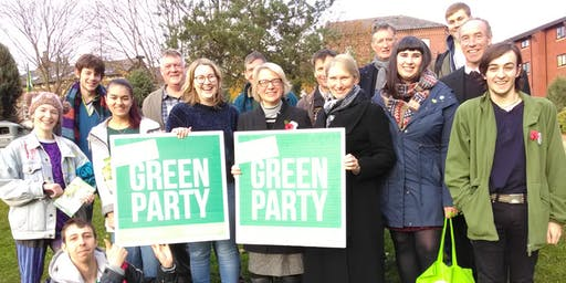 Sheffield Green Party Election Action Day City Centre