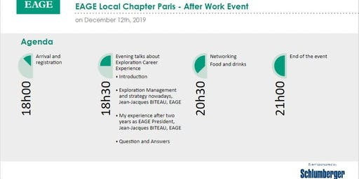 EAGE Local Chapter Paris - December After Work Event 2019