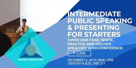 Intermediate Public Speaking Training tickets