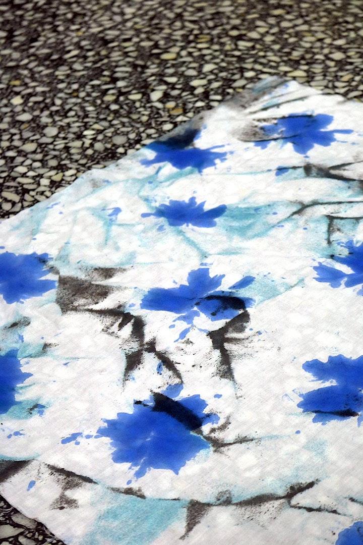 Imagen de Taller de furoshikis estampados con shibori