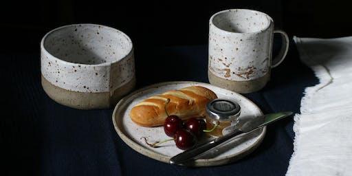 Mug, Plate and Bowl - Make a Breakfast or Brunch Set