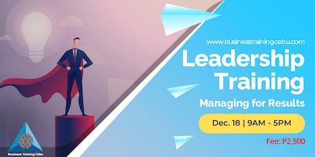 Leadership Training tickets