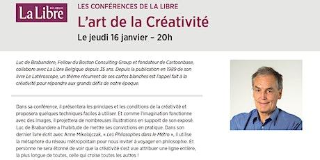 """Conférence """"L'art de la créativité"""" billets"""