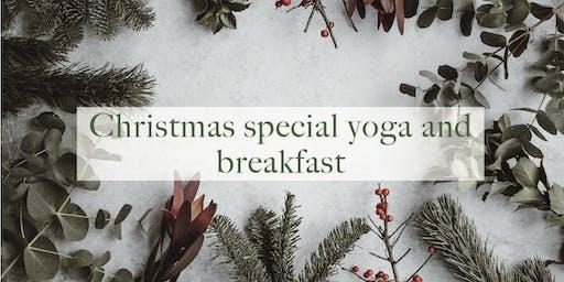 Yoga and vegan breakfast Christmas special