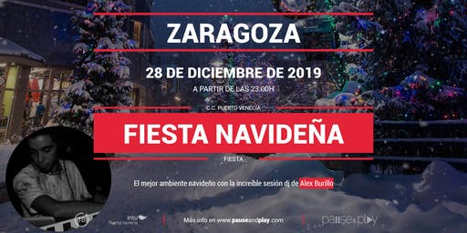 Evento Fiesta navideña con Alex Burillo en Pause&Play Puerto Venecia