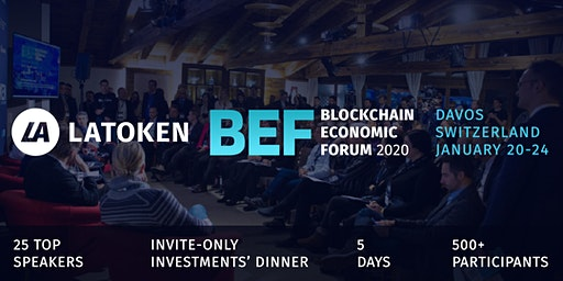 LATOKEN Blockchain Economic Forum in Davos, Switzerland