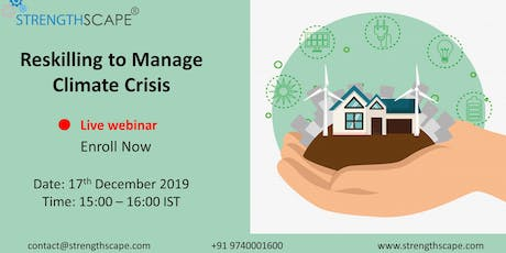 [Webinar ] Reskilling to Manage Climate Crisis tickets