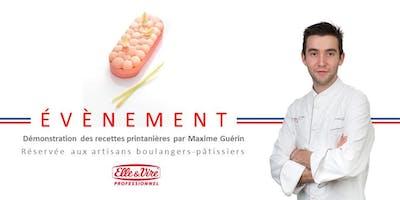 Démonstration des recettes printanières par Maxime Guérin