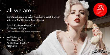 All We Are: Shopping and Meet & Greet with Izzy from Black Honey tickets