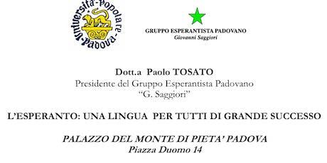 L'esperanto: una lingua per tutti di grande successo biglietti