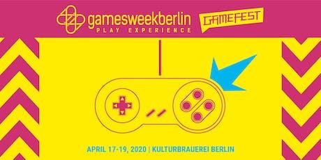 Gamefest 2020 (gamesweekberlin PLAY X) Tickets