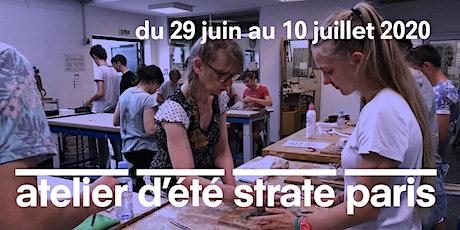 L'ATELIER D'ÉTÉ À STRATE ECOLE DE DESIGN PARIS - 2 SEMAINES DÉBUT JUILLET 2020 billets
