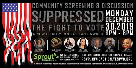 Suppressed: The Fight to Vote (RI Community Screening & Discussion) tickets