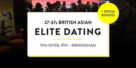 Elite British Asian Meet and Mingle, Elite Social - 27-37s | Birmingham tickets