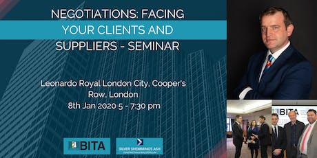 Negotiations: Facing your Clients and Suppliers - Seminar tickets