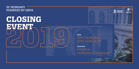 SC Hungary powered by HEPA - Closing Event 2019 tickets