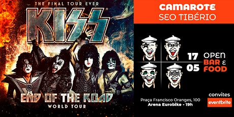 "KISS ""End of the Road Tour"" - Camarote Seo Tibério ingressos"