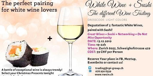 White Wine + Sushi