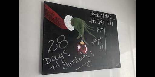 Canvases & Cocktails - The Grinch