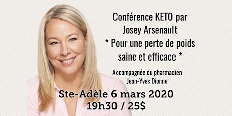 STE-ADÈLE - Conférence KETO Pour une perte de poids saine et efficace! 25$ tickets