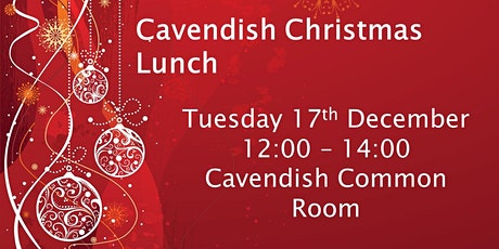Cavendish Christmas Lunch tickets